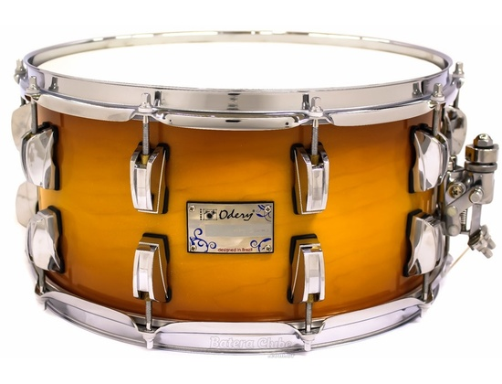 Odery Snare Drum 14x7 Eyedentity Maple Soft Gold