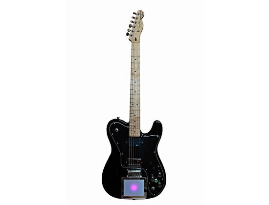 Squier Telecaster Custom Modified with MIDI pad and Sustainer
