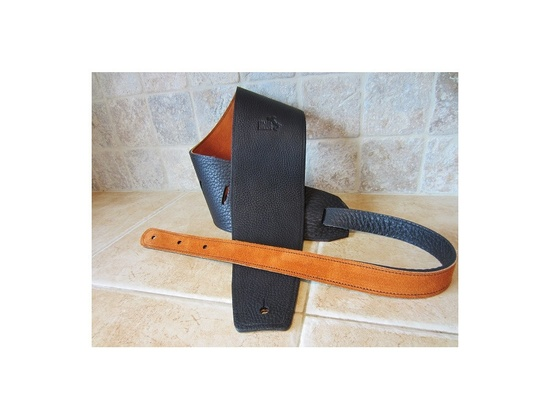 "Italia Leather Straps: 4"" Guitar-Bass Strap"