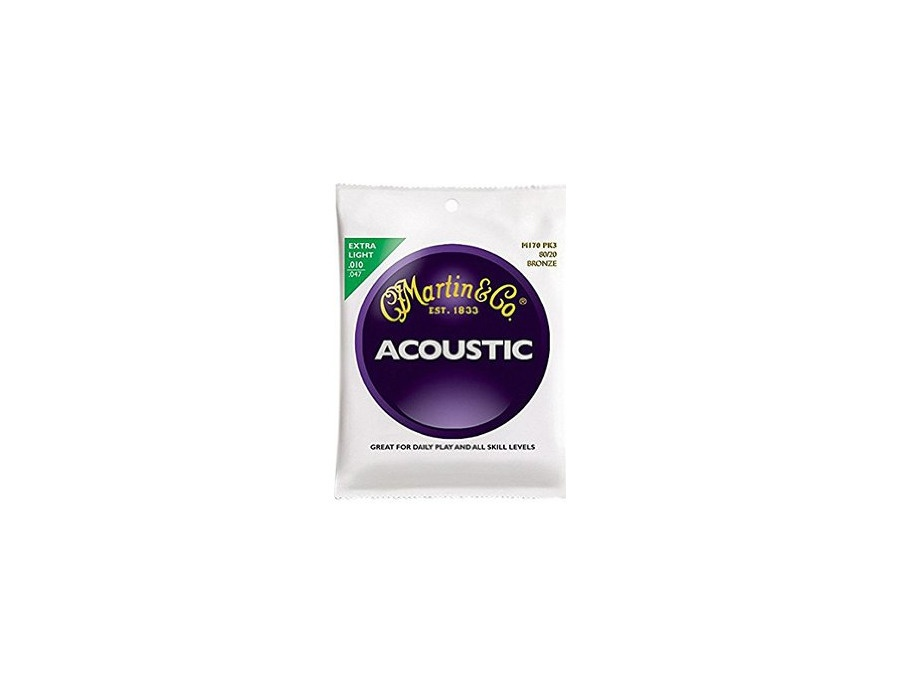 Martin Acoustic Guitar Strings, Extra Light