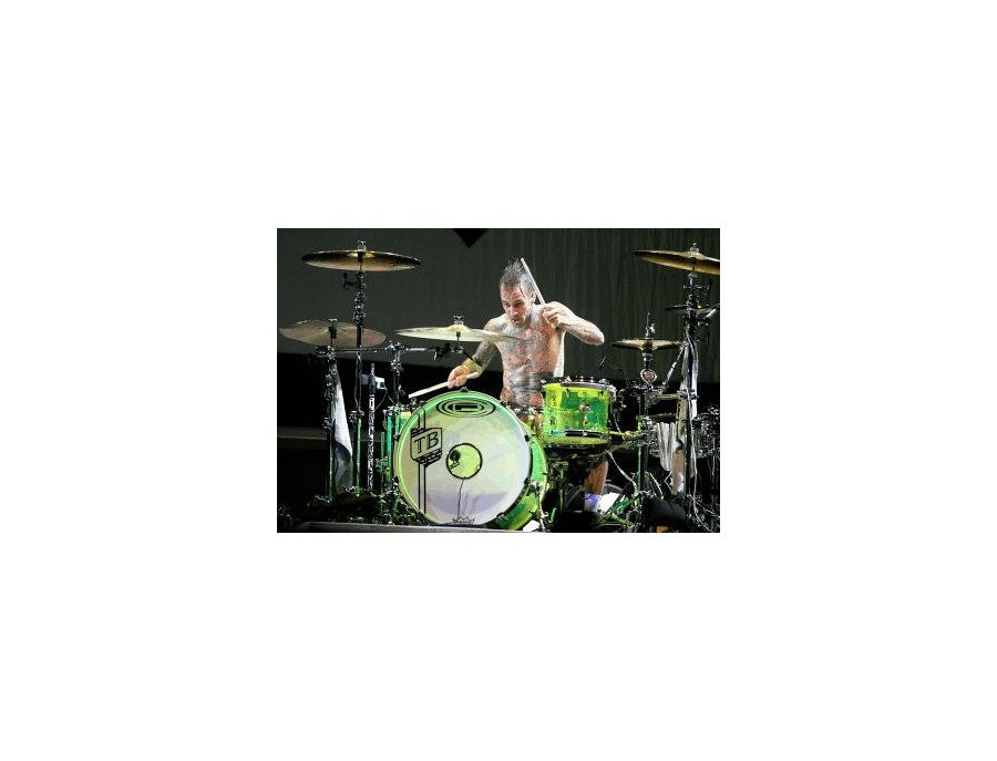 Orange county drums and percussion type 4 glowstick green acrylic xl