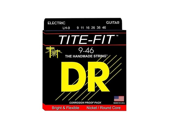 DR Strings Tite-Fit LH-9 Lite-n-Heavy Nickel Plated Guitar Strings