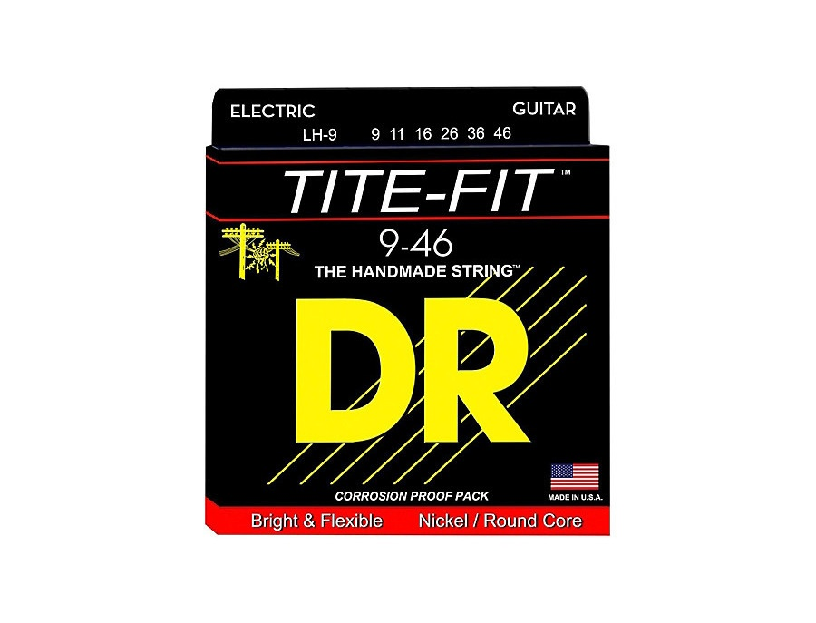 DR Strings Tite-Fit LH-9 Lite-n-Heavy Nickel Plated Guitar Strings