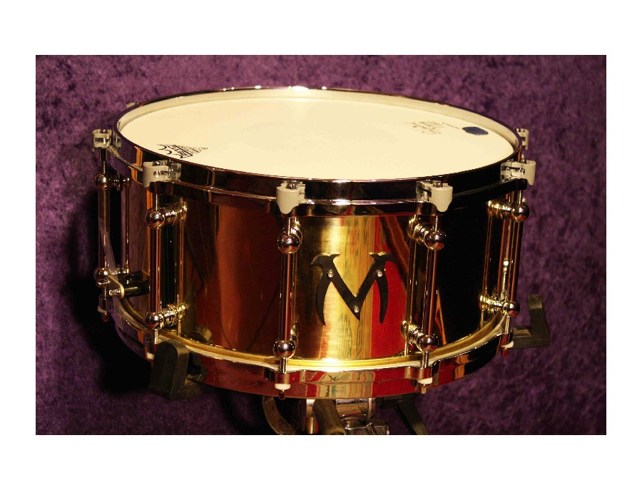 Masters of maple bell brass custom snare xl