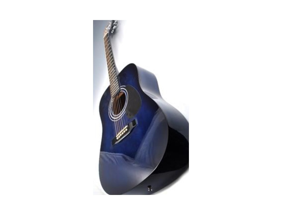 Encore Dark Blue Acoustic Guitar