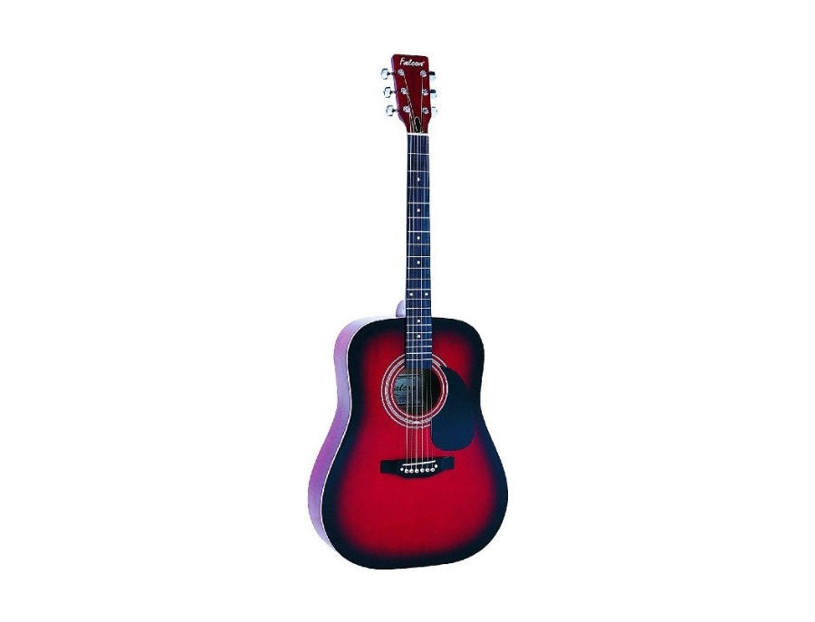 Falcon Red Acoustic Guitar