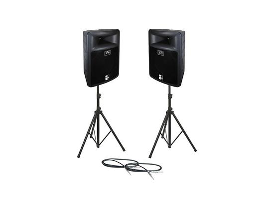 Peavey PR 15 Speaker Pair with Stands