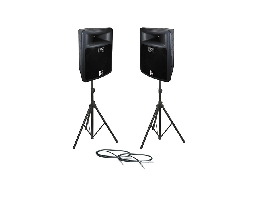 Peavey PR 15 Speaker Pair with Stands