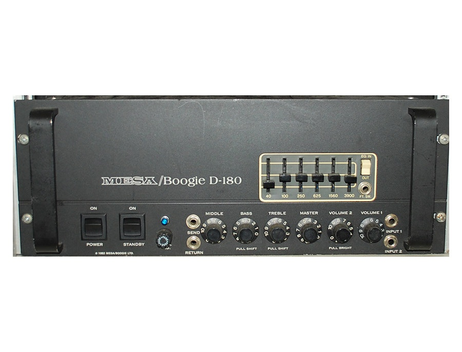 Mesa boogie d 180 200 watt all tube bass amplifier xl