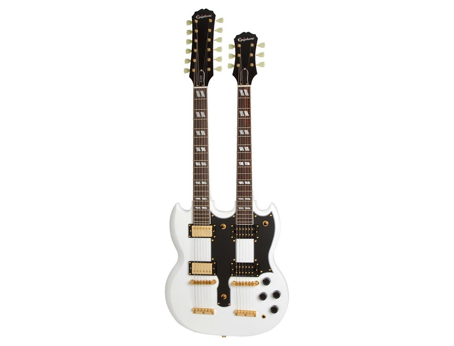 Epiphone Limited Edition G-1275 Custom Double Neck Electric Guitar Alpine White