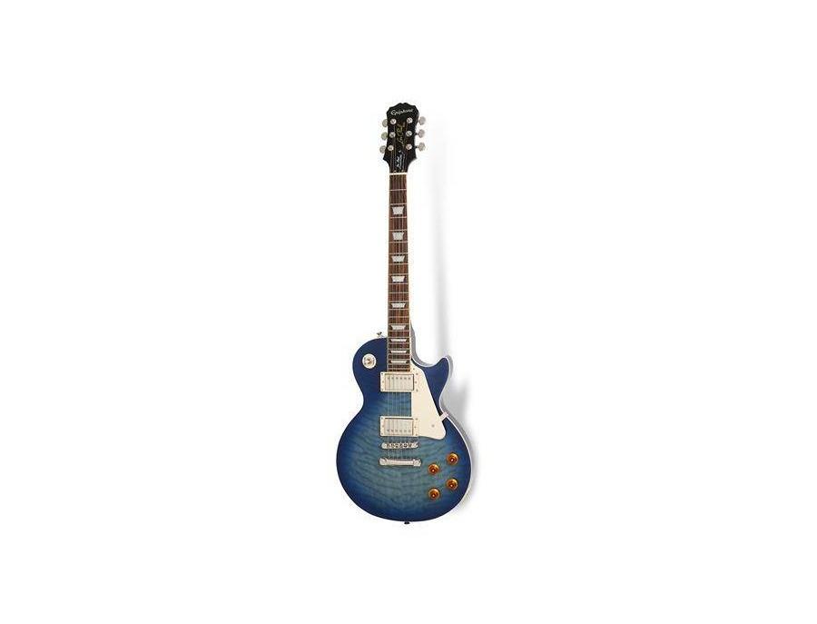 Epiphone les paul quilt top pro in translucent blue xl