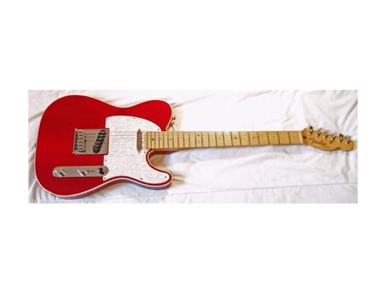 Fender American Deluxe Telecaster Crimson Transparent