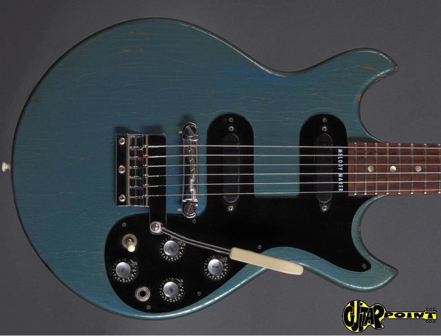 Gibson Melody Maker Pelham Blue Metallic 1965
