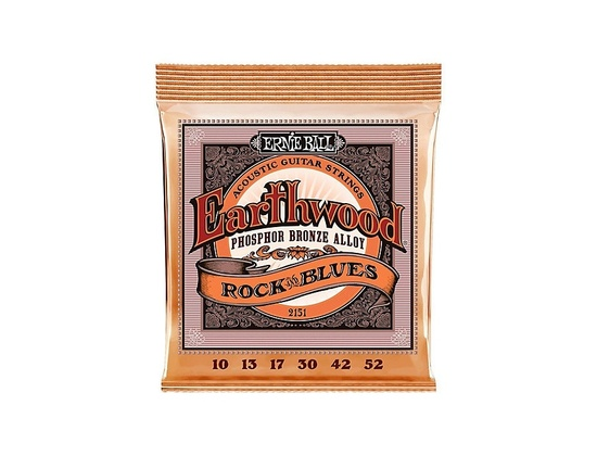 Ernie Ball Earthwood Rock & Blues Phosphor Bronze Acoustic String Set .010 - .052