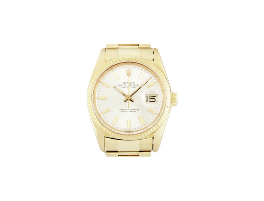 Rolex datejust reference 1601 in 18k gold watch xl
