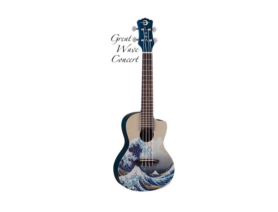 Luna Great Wave Concert Ukulele