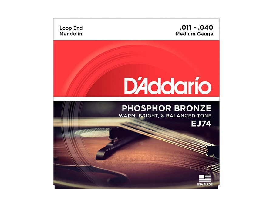 D addario ej74 phosphor bronze medium mandolin strings 11 40 xl