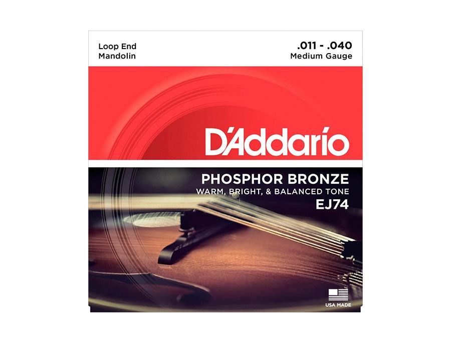 D'Addario EJ74 Phosphor Bronze Medium Mandolin Strings (11-40)