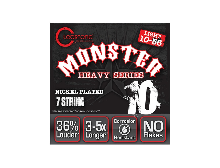 Cleartone Monster Heavy Series Nickel Plated 7-String Light Electric Guitar Strings