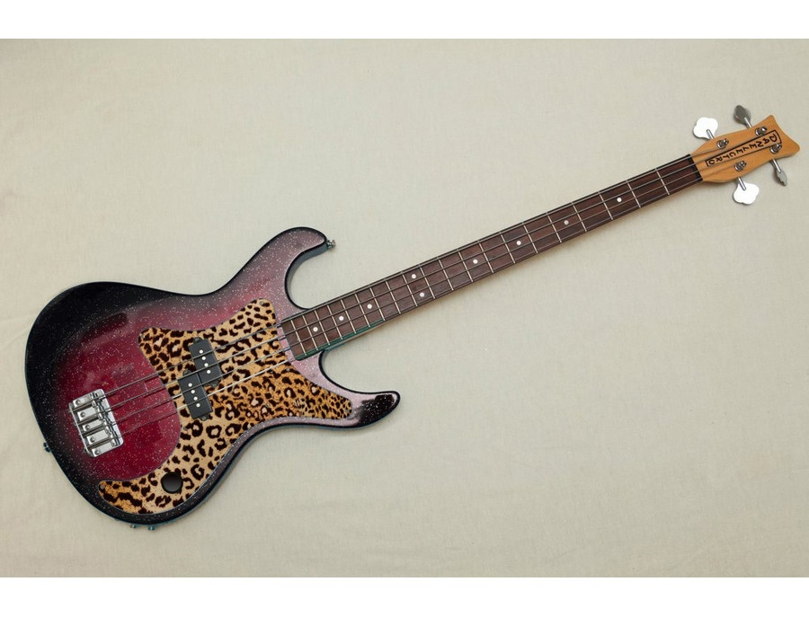 Danelectro Rumor Bass - Red Sparkle Burst - Custom Pick Guard and Kill Switch