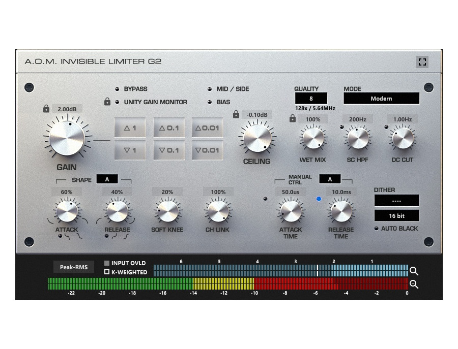 A o m invisible limiter g2 xl