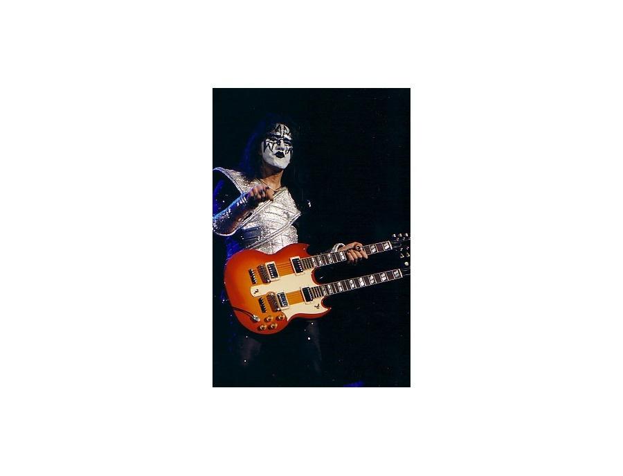 Gibson double neck SG cherry burst