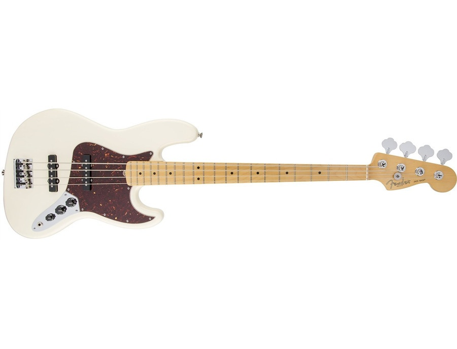 Fender American Standard Jazz Bass Guitar, Maple Fingerboard, Olympic White