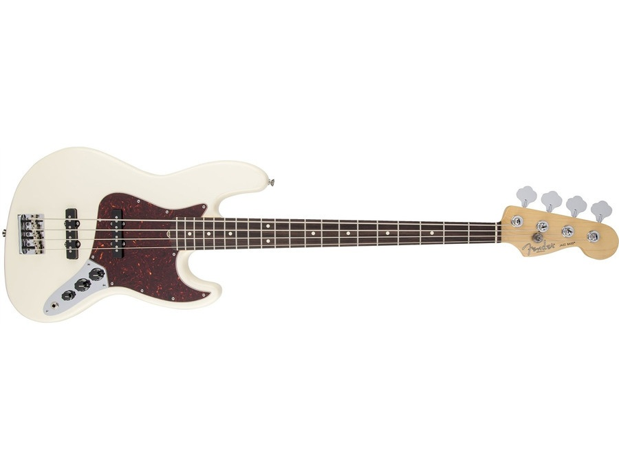 Fender American Standard Jazz Bass Guitar, Rosewood Fingerboard, Olympic White