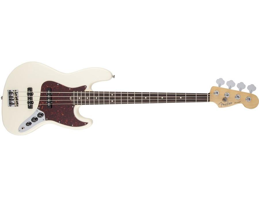 Fender American Standard Jazz Bass Guitar, Rosewood Fingerboard, Olympic White