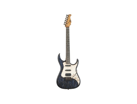 AXL Badwater SRO Electric Guitar, Crackle Blue