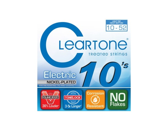 Cleartone 10-52 Light Top Heavy Bottom Electric Guitar Strings