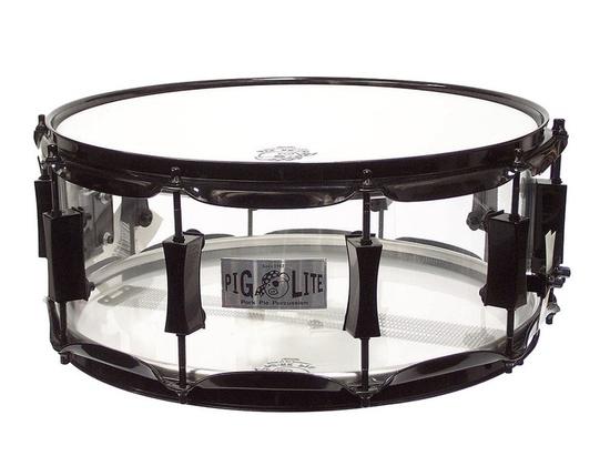 "Pork Pie Acrylic Clear Piglite Snare Drum 14"""