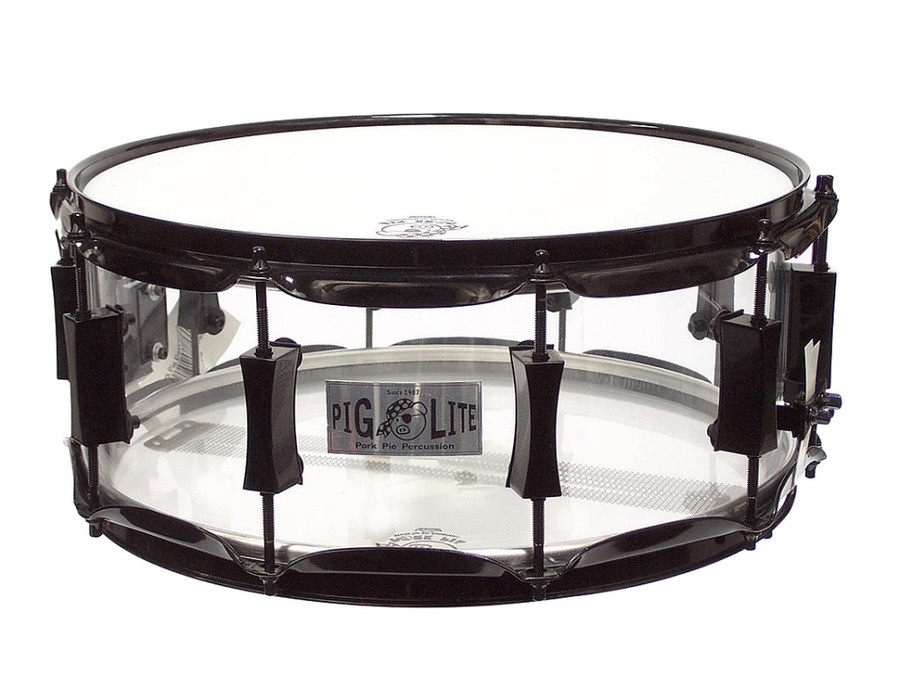 Pork Pie Acrylic Clear Piglite Snare Drum 14""