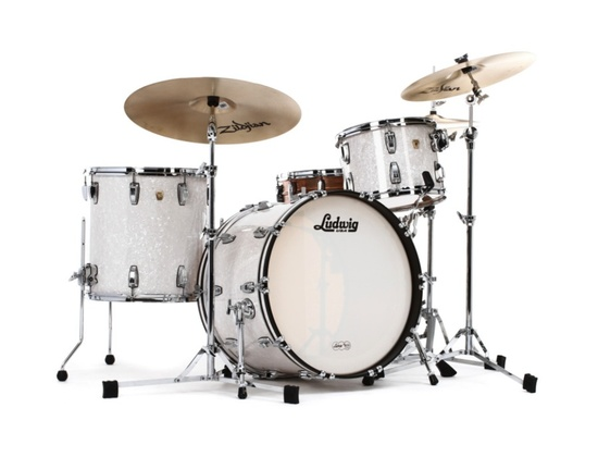 Ludwig Classic Maple Drum Kit in White Marine Pearl