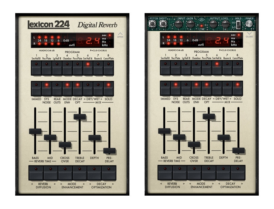 Universal audio lexicon 224 digital reverb plug in xl