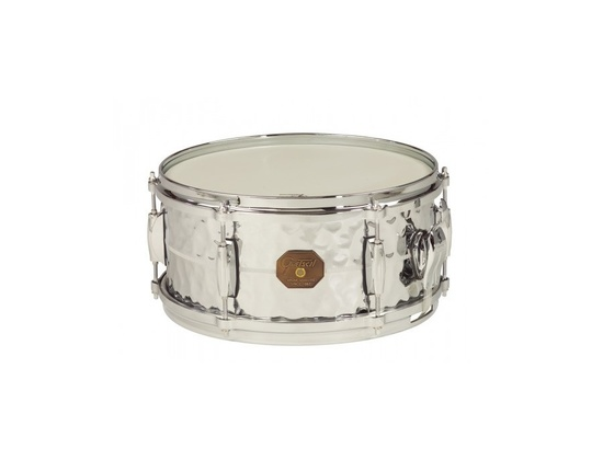 "Gretsch 6x13"" Hammered Chrome over Brass Snare Drum"