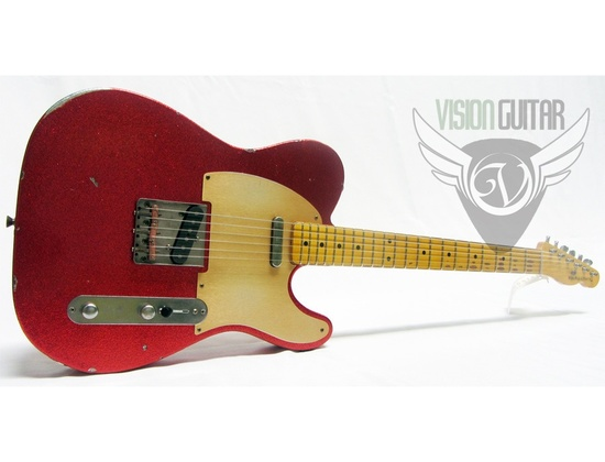 Nash Guitars Tele Model T 52 Relic Aged Amazing Red Sparkle Nitro w HSC