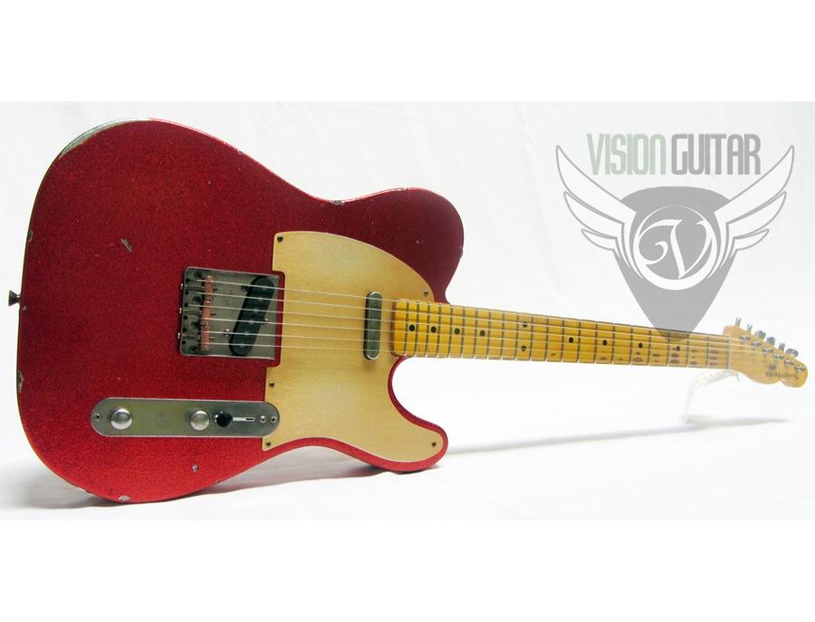 Nash Guitars Tele Model T 52 Relic Aged Amazing Red Sparkle Nitro w HSC