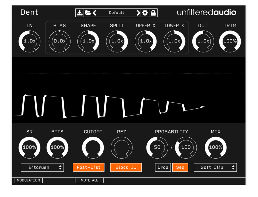 Unfiltered audio dent xl