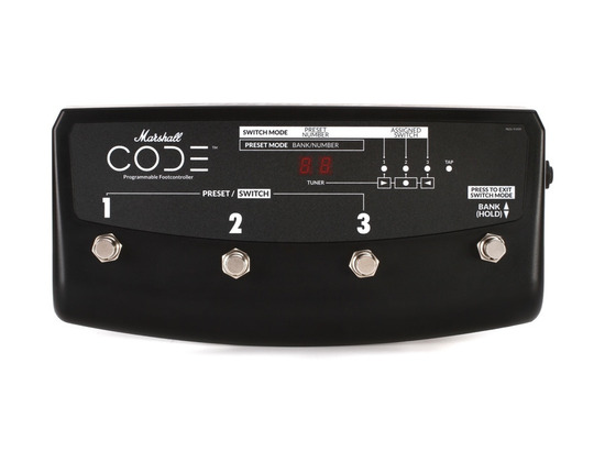 Marshall PEDL-91009 4-way Footswitch for Code Amplifiers