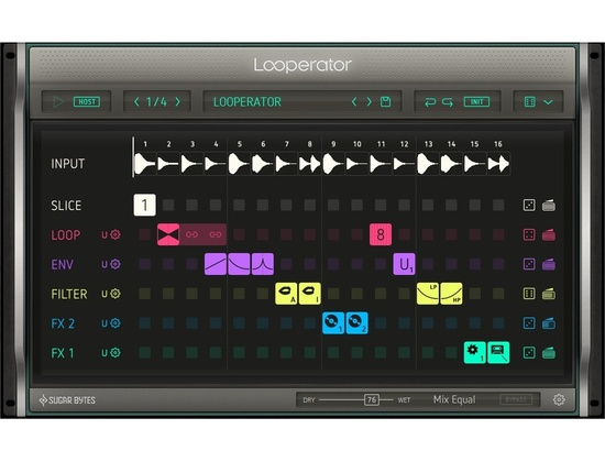 Sugar Bytes Looperator Multi-Effect VST Plugin