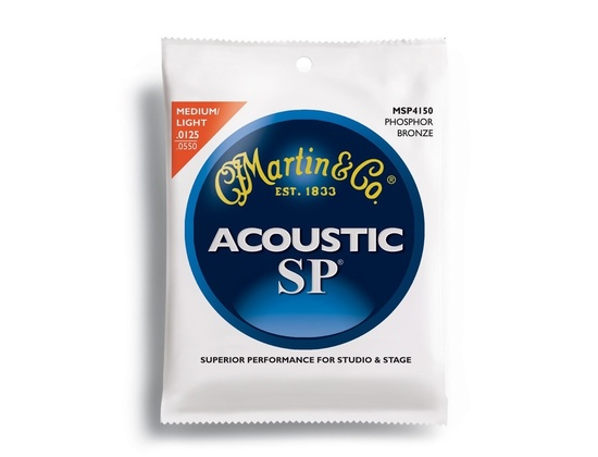Martin MSP4150 SP Phosphor Bronze Light/Medium Acoustic Guitar Strings