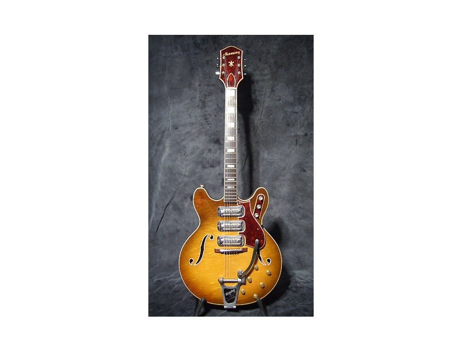 Harmony h76 eletric guitar hollow body xl