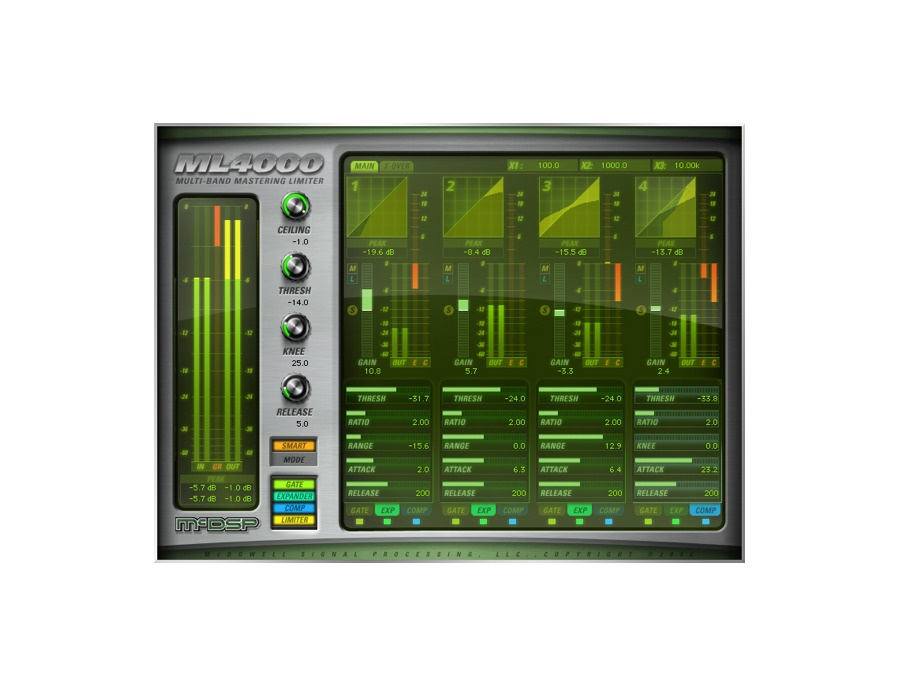 Mcdsp ml4000 limiter and multi band dynamics processor xl