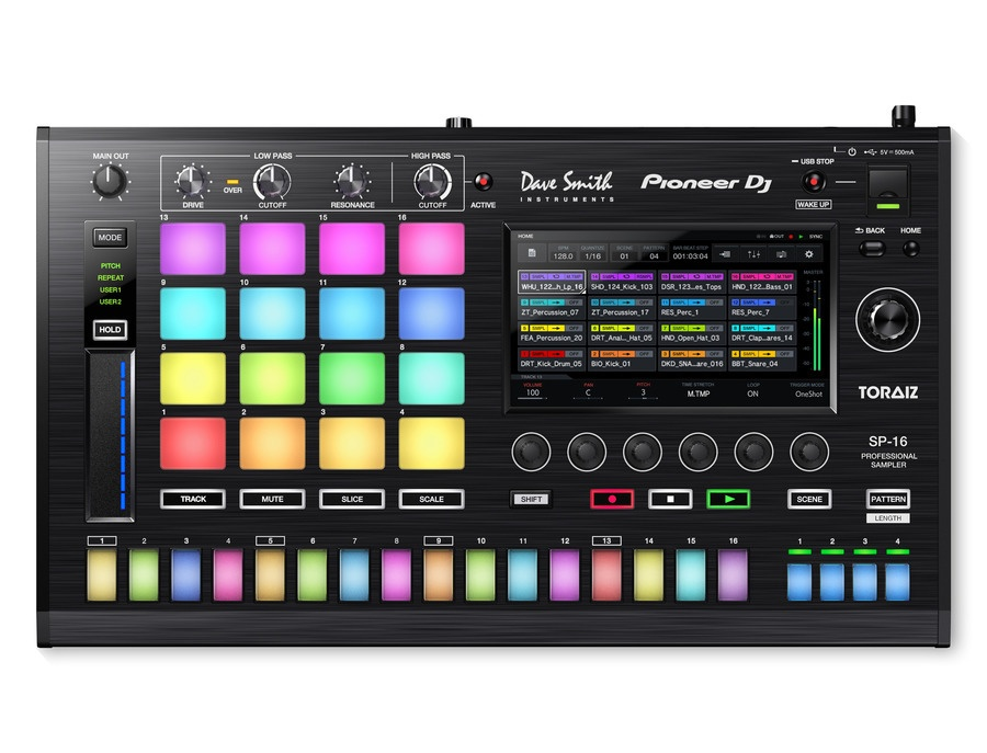 Pioneer DJ DSI TORAIZ SP-16 Professional Sampler / Step Sequencer