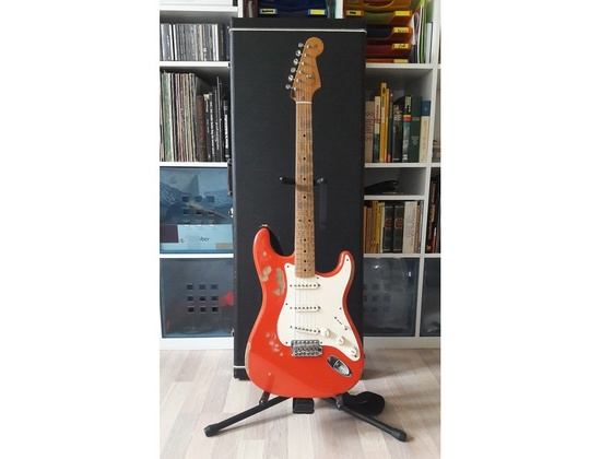 2009 Fender Composite Stratocaster Electric Guitar Fiesta Red