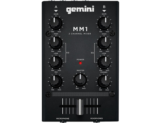 Gemini MM1 2 Channel Audio Mixer