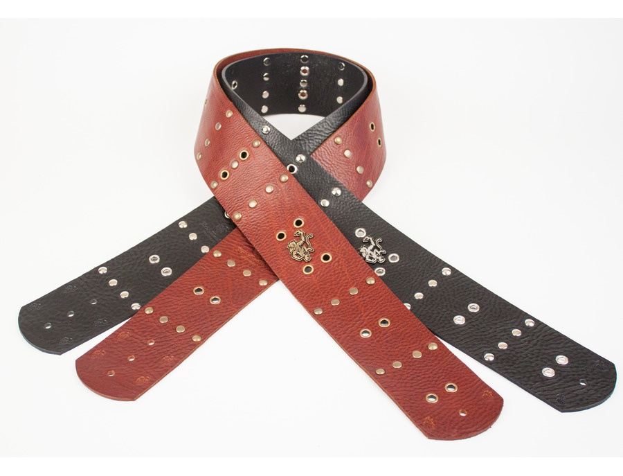 Four Row Eyelet Guitar Strap by Red Monkey