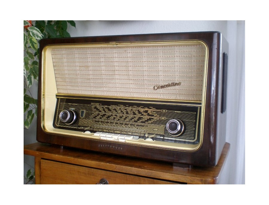 Telefunken concertino 8 tube radio 1957 58 xl