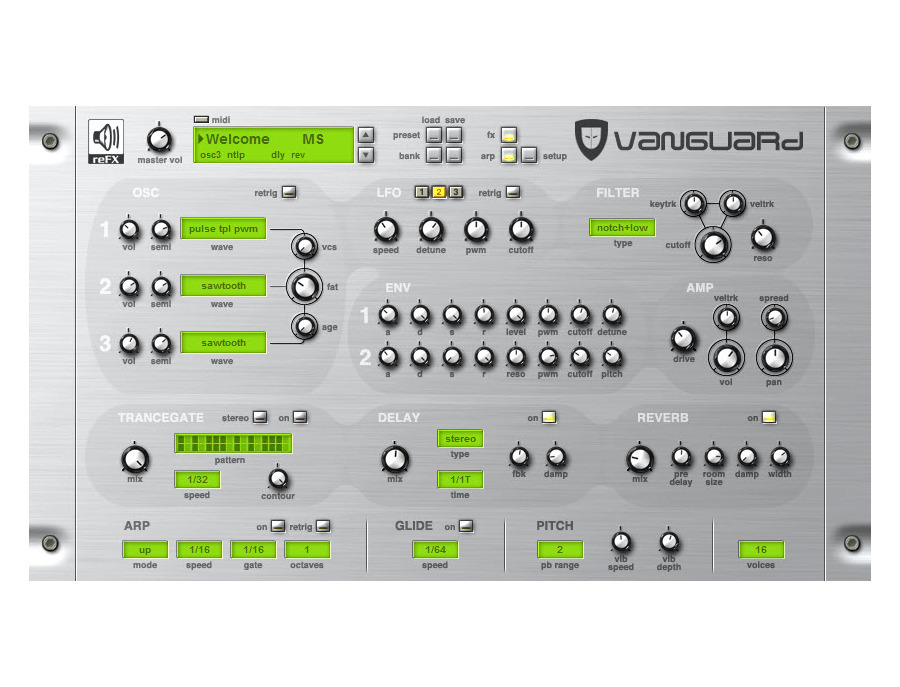 Refx vanguard virtual analog synthesizer xl